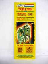 GI JOE TRIPLE WIN GAME Vintage Scratch Off w/Sticker WATCH TOWER STATION 1985