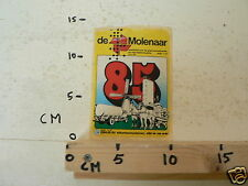 STICKER,DECAL DE MOLENAAR 85 WEEKBLAD