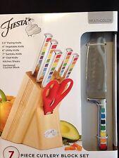 Fiesta 7 Piece Cutlery Block Set Multi-Color