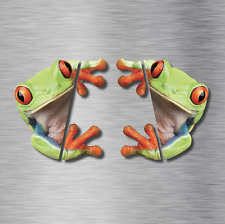 TWO 3D Peep frog funny car stickers Truck Window Vinyl Decal Graphics Auto REAL