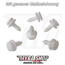 10x Türverkleidung Clips Befestigung Clip Audi A3 VW Golf in Weiss 3B0867333 Neu