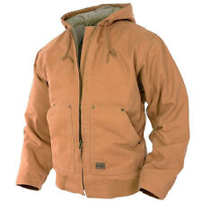 MIL-TEC work Hooded Jacket canvas, foderato, Coyote Inverno Giacca Taglia L
