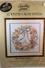 Something Special Shell Wreath Picture Counted Cross Stitch Kit unopened Beach