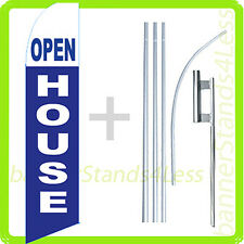 Feather Swooper Flutter Tall Banner Sign Flag 15' Kit - OPEN HOUSE bb