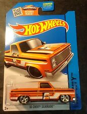 Hot Wheels CUSTOM Super Treasure Hunt 83 Chevy Silverado with Real Riders