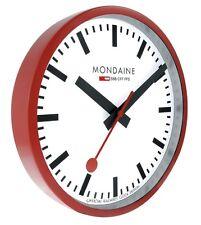 MONDAINE Official Swiss Railways WALL CLOCK 25cm Red (A990.CLOCK.11SBC)