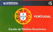 Phone Cards ,Jersey ,Speedial , £5 Flag of Portugal , used
