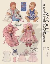Reproduction Vintage Dy-Dee Doll Clothes Sewing Pattern M513
