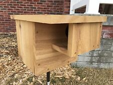 "Cedar Squirrel House Nesting Box With 3"" Entrance, Hinged Door And Ventilation"