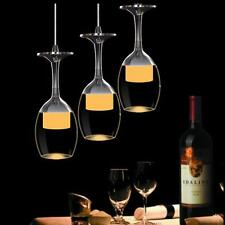 Modern Crystal Wine glass Pendant Light LED Chandelier Lamp Dining Room lighting