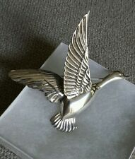 Vintage Flying Sterling Goose Duck Bird Brooch Pin 1940's - Great Condition