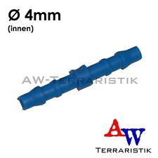 Gerade Verbinder für Schläuche innen Ø 4mm - Steckverbinder
