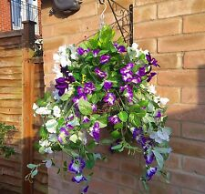OUT STOCK PURPLE New trailing  Ready To Hang Artificial Flower  Hanging Basket