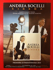 ANDREA BOCELLI - CINEMA - Polish promo FLYER