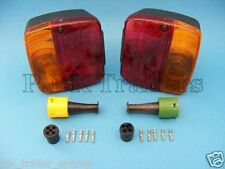 FREE P&P* 2 x AJBA FP11 Rear Lamps & Replacement Plugs - Daxara & Erde Trailers
