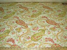 "~9 6/8 YDS~""PAISLEY"" FLORAL~LINEN BLEND UPHOLSTERY FABRIC FOR LESS~"