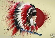 Native American Indian Woman Image Picture Poster Home Art Print - Wall Decor