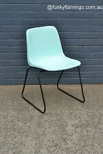Vintage Pongrass Mint green chair black metal frame Mid century space age