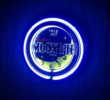 "SINCE 1917 LOOKOUT MOON PIE DESSERT SNACK CAKE 14 1/2"" DOUBLE NEON WALL CLOCK"