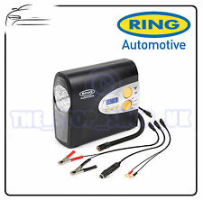 RING MOTORCYCLE BIKER AUTOMATIC DIGITAL AIR COMPRESSOR TYRE CAR TRAVEL RAC605
