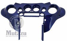 Cobalt Blue front inner fairing Batwing Harley after market