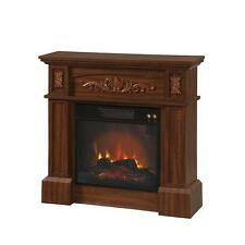 Winter Home Electric Fireplace Space Heater Warm Temperature Flame Room TV Stand