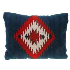 VINTAGE NAVAJO RUG PILLOW RED, GREEN, BLUE