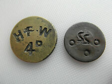 Two UN-reaserched Collectable counter stamped Picker type Tokens / coins