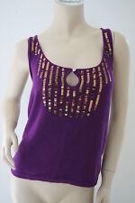 TOPSHOP Sequin Embellished Knitwear Top Vest Size 14 MW3