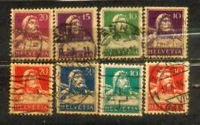 Switzerland Helvetia small Used Stamps Lot  5