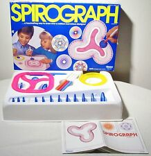 Vintage 1986 Spirograph Design Drawing Pattern Tool Set Art Toy Game Kenner