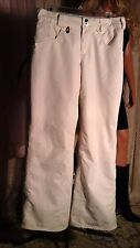 VOLCOM SLIGHTLY REMOVED TRANSITION STREETWEAR SNOWBOARD SKI PANTS XS WHITE