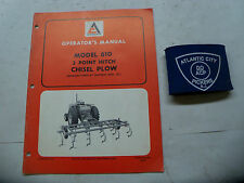 ALLIS-CHALMERS MODEL 610 3 POINT HITCH CHISEL PLOW OPERATORS MANUAL
