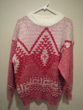 Vintage Ugly Christmas Sweater Tacky - XL Red Together Holiday Ugly Sweater!