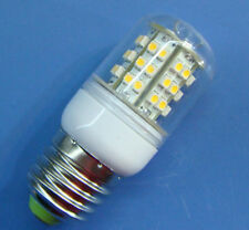 1x E27 48 SMD LED White bulb lamp light 220~240V With transparent cover #E2WA