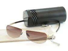 IC! Berlin Sunglasses Sepp Gold Black Stainless Steel Germany Made 56-15-140