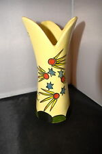 * RARE* ART DECO LOVELY COMET VASE BY CROWN DEVON ,HANDPAINTED BY DOROTHY ANN #W