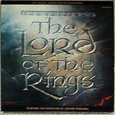 LORD OF THE RINGS SOUNDTRACK ~ 2 VINYL LPs Tolkien ~ UNPLAYED ~ VERY CLEAN