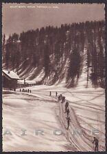 TORINO SAUZE D'OULX 23 SALICE D'ULZIO SPORTINIA SKILIFT NEVE Cartolina viag 1951