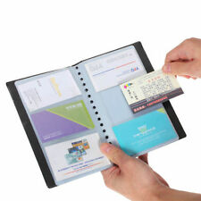 Leather120Cards Business Name IDCredit Card Holder Book Case Keeper Organizer DH