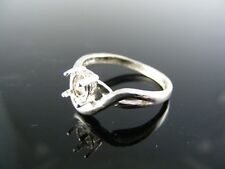 5685 RING SETTING STERLING SILVER, SIZE 6, 6X4MM OVAL STONE