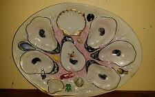 Antique 1918 Union Porcelain Works 6 Well Oyster Plate