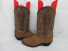 Laredo Brown Leather Cowboy Womens Boots Size 7 M Style 5742