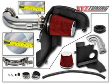 """3.5"""" RED Heat Shield Cold Air Intake Kit + Filter For 11-14 Mustang GT 5.0L V8"""