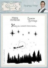 PHIL MARTIN Sentimentally Yours CHRISTMAS FOREST COLLECTION A5 Clear Stamp SYCF