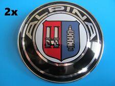 BMW Alpina 2x82mm 1er 2er 3er 5er 6er 7er X5 X6 X3 X1 82mm Motorhaube Emblem