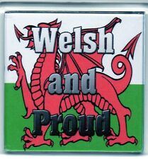 FRIDGE MAGNET Quotes Saying Gift Present Novelty  WALES WELSH AND PROUD