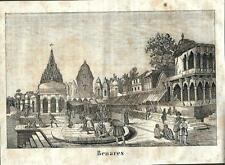 Stampa antica BENARES VARANASI Uttar Pradesh INDIA 1841 Old antique print