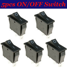 5pcs ON/OFF Rectangle Long Rocker Switch + Waterproof Cover Car Dashboard