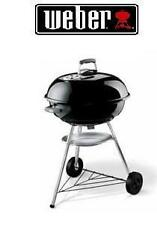 WEBER BARBECUE A CARBONE TONDO KETTLE  NERO SUPPORTO DI COTTURA 44,5